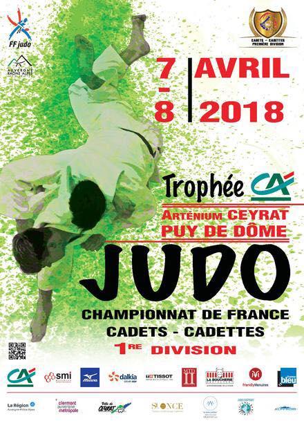 affiche championnat de France de judo cadets